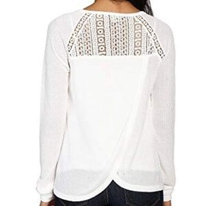 NWOT Lucky Brand Lace Mixed Thermal long sleeve